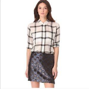 Madewell Mini Polka Dot Sequins Skirt